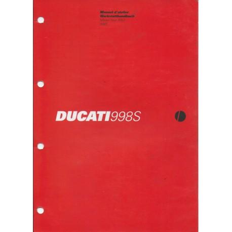 DUCATI 998S de 2002 (manuel atelier 03 / 2003)