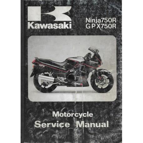Manuel atelier KAWASAKI NINJA 750 R / GPX 750 R