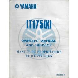 Manuel atelier YAMAHA IT 175 (J) 1982