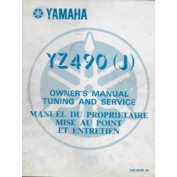 Manuel atelier YAMAHA YZ 490 (J) de 1982 type 5X6