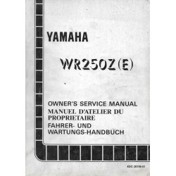 YAMAHA WR 250 Z (E) 1993 type 4DC