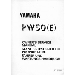 Manuel atelier YAMAHA PW 50 (E) 1993 Type 3PT