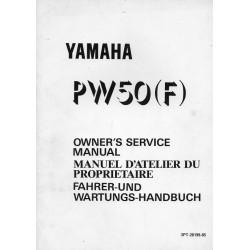 Manuel atelier YAMAHA PW 50 (G) de 1995 Type 3PT