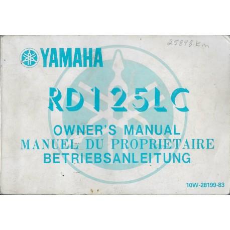 YAMAHA RD 125 LC (type 10W janvier 1985)