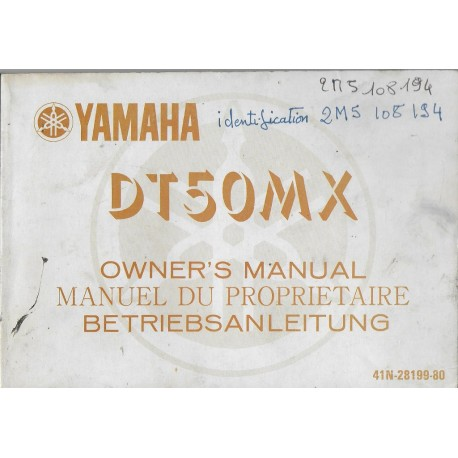 YAMAHA DT 50 MX (Manuel propriétaire mars 1983)
