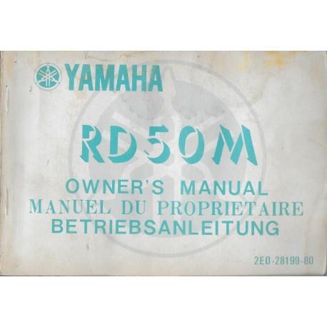 YAMAHA RD 50 M type 2E0 (Manuel propriétaire mars 1977)