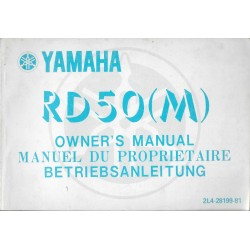 YAMAHA RD 50 (M) type 2L4 (Manuel propriétaire 09 / 1978)