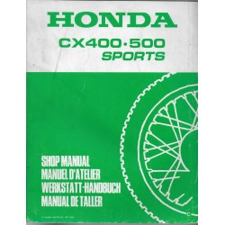 HONDA CX 400 / 500 SPORTS (Manuel de base) juin 1982