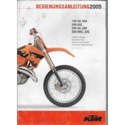 KTM 125 / 200 / 250 / 300 (SX - EXC - MXC) de 2005