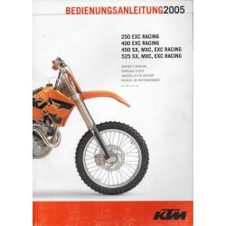 KTM 250 / 400 / 450 / 525 (SX - MXC - EXC Racing) de 2005