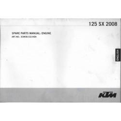 KTM 125 SX de 2008 (moteur et châssis)