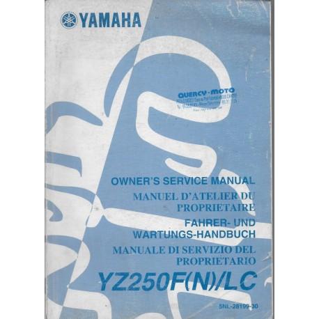 YAMAHA YZ 250 F (N) / LC de 2001 type 5NL