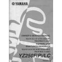 YAMAHA YZ 250 F (P) / LC de 2002 type 5SG