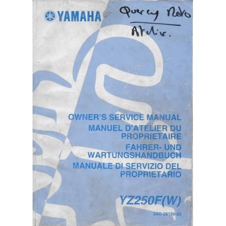 YAMAHA YZ 250 F (W) / LC 2007 type 5XC (manuel atelier)
