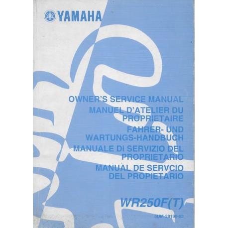 YAMAHA WR 250 F (T) de 2005 type 5UM (manuel atelier)