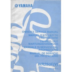 YAMAHA WR 250 F (V) de 2006 type 5UM (manuel atelier)