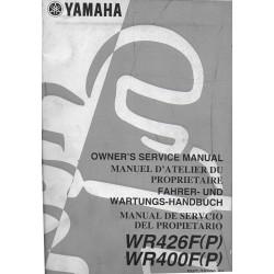 YAMAHA WR 400 / 426 F (P) de 2002 type 5NG