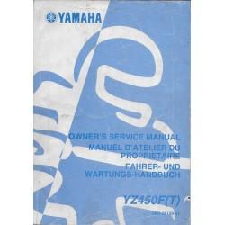 YAMAHA YZ 450 F (T) de 2005 type 5XD