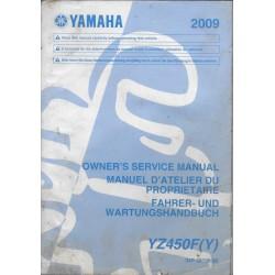 YAMAHA YZ 450 F (Y) de 2009 type 34P