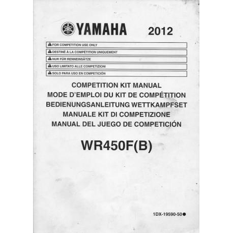 YAMAHA WR 450 F (B) de 2012 type 1DX (kit compétition)