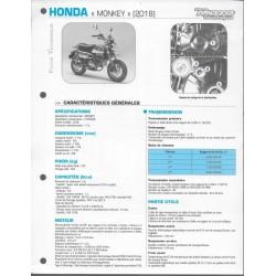 HONDA MONKEY 125 (2018) Fiche RMT
