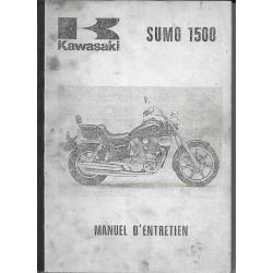 Manuel atelier KAWASAKI SUMO VN 1500-A1 de 1987