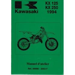 Manuel atelier KAWASAKI KX 125-K1 / KX 250-K1 de 1994