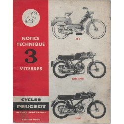 PEUGEOT BB 50 cc 3 vitesses à main (manuel atelier 07 / 61)