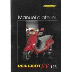 PEUGEOT SV 125 (manuel atelier moteur 07 / 1991)