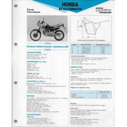 HONDA NX 650 DOMINATOR (1992-94) fiche technique E.T.AI