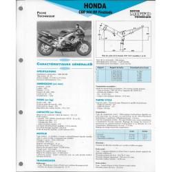 HONDA CBR 900 RR Fireblade (1992 - 93) fiche technique RMT