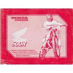 HONDA CR 500 RK 1989 (manuel de base) Type ML3 (02 / 89)