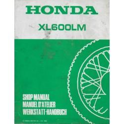 HONDA XL 600 LMH (supplément atelier) 11 / 1986