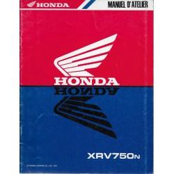 HONDA XRV 750 N (Manuel atelier additif 11 / 1991)