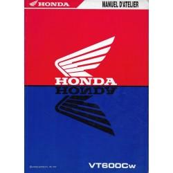 HONDA VT 600 C W de 1998 (Manuel atelier de base 12 / 97)
