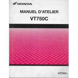 HONDA VT 750 C4 de 2004 (Manuel atelier de base 12 / 2003)