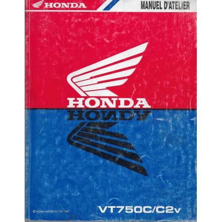 HONDA VT 750 C / C2v de 1997 (Manuel atelier 10 / 1996)