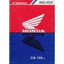 HONDA CA 125 x REBEL (Manuel atelier additif)