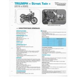 """TRIUMPH """"Street Twin"""" (2016 à 2020) Fiche RMT"""
