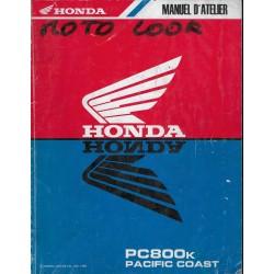 HONDA PC 800 K Pacific Coast de 1990 (manuel atelier)