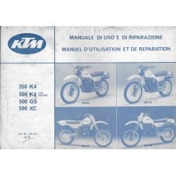 KTM 350 / 500 K4 - 500GS / XC 1983 (Manuel réparation 10 / 82