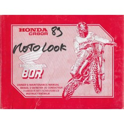 HONDA CR 80 RK Type GS2 de 1990 (06 / 1989)