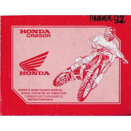 HONDA CR 250 RN Type KZ3 de 1992