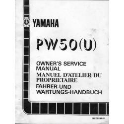 Manuel atelier YAMAHA PW 50 (U) 1988 Type 36E