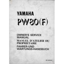 Manuel atelier YAMAHA PW 80 (F) Type 3RV 1994