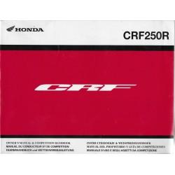 HONDA CRF 250 R (Manuel de base 07 / 2013 ) en français