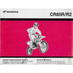 HONDA CR 85 R / R2 Type GBF de 2004 (manuel 06 / 2003)