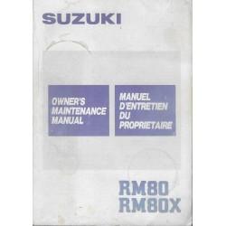 SUZUKI RM 80 G / RM 80 XG modèle 1986 (08 / 1985)
