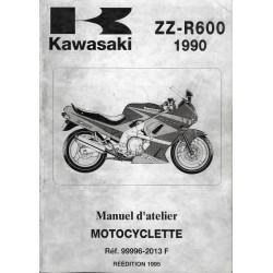 KAWASAKI ZZ-R 600 (1990 à 1993) (Manuel atelier 1995)