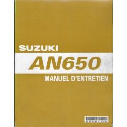 SUZUKI AN 650 de 2003 à 2005 (Manuel atelier 08 / 2005)
